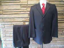 Hart Schaffner Marx Black Pinstripe Mens Business Suit sz 40 R