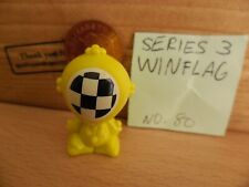 #80 Winflag, Rare Yellow Gogos Crazy Bones Series3, Single Figure, 4065