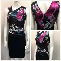 New Ex L@psy Ladies BLACK Floral 2 in 1 Dress Evening Party Cocktail Dress