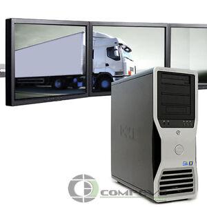 Multi-monitor Dell Precision T7500 Desktop 6GB 500GB for Dispatching  Logistics