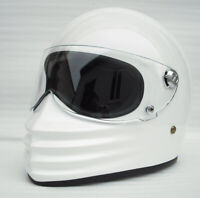 Full face motorcycle helmet fiberglass retro vintage cool custom
