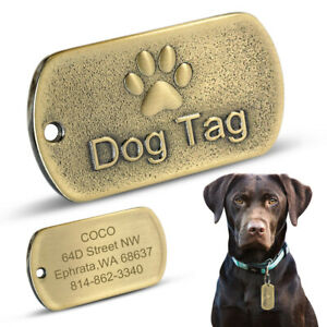10PCS Blanket Military Pet ID Tags Engravable Dog Tags Stainless Steel Bulk Sell