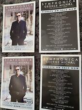 GEORGE MICHAEL SYMPHONICA Concert Tour Promo Flyer 2012 Poster A5 Size  x4