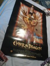 Poster Bruce Lee Enter The Dragon 25th Anniversary Movie Original From 1988