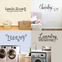 Laundry Washing Room Wall Sticker Lettering Vinyl Quotes Decals Mural Home Decor