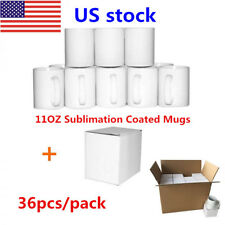 Us 36pcs Aaa Grade Blank White Mugs 11oz Sublimation Coated Mugs For Heat Press