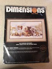 Dimensions Teddy Bear Parade Cross Stitch Kit 3613 Dawna Barton New