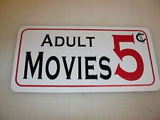 ADULT MOVIES 5 Cents  Metal Sign 4 Costume Cosplay Girls Clubware S&M Prop