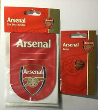 Arsenal Tax Disc Holder And Arsenal Badge