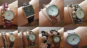 New Hippie Chic Watch/Bracelet Various Design Metal Bracelet Boho Watch
