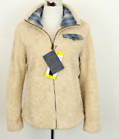 Pendleton Womens S Beige Sherpa Jacket Curly Faux Fur Teddy NEW Plaid Detail