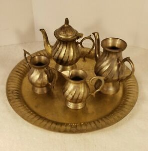 Vintage Made In India Mini Tea Set With Underplate