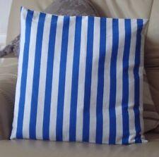 Diseño Azul Y Blanco De Rayas Funda De Cojín