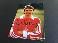 KURT NIEDERMAYER FC BAYERN MÜNCHEN signiert signed Photo 10x15 Autogramm