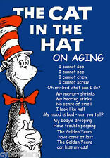 Dr. Seuss Funny Aging  Refrigerator / Tool Box Magnet Man Cave  Gift Card Insert