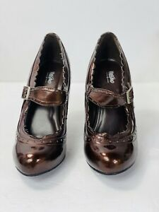 mossimo leather t strap shoes brown Size 7