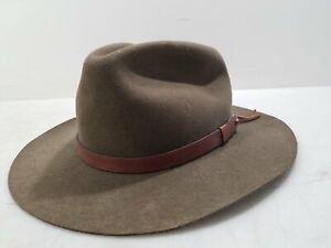 VTG Mallory Stetson Mens Brown Wool Western Cowboy Hat Sz L