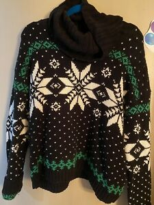 Women's Ralph Lauren Christmas Turtle Neck Sweater Size L
