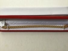 Beautiful Italian Made Solid 9k Yellow Gold Belcher Necklace. 18 lnches.