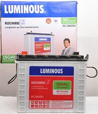 Luminous RED CHARGE 150 AH TALL Tubular Battery Brand New - 36 Months Warranty
