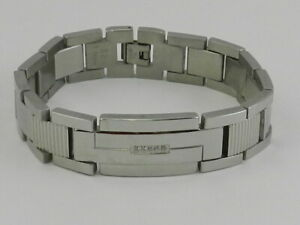 LEGACY for MEN by Simone I. Smith Crystal Accent Textured Bracelet Stainless