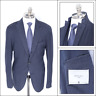 NWT BOGLIOLI K Jacket Navy Blue Herringbone Wool Notch Lapel Sport Coat 54 44 R