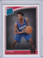 Shai Gilgeous-Alexander 2018-19 Donruss #162 RC Clippers Rated Rookie