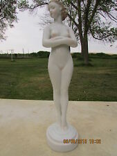 Herend Hand Painted Porcelain Nude Figurine of a Woman 11 Inches Tall Mint