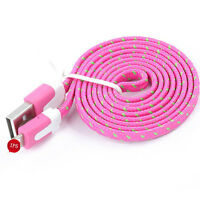 1/2/3M Fabric Braided Flat USB Charger Data Sync Cable For iPad 4 Air 2 Mini 2/3