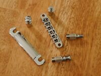 TUNE-O-MATIC GUITAR BRIDGE AND TAILPIECE CHROME MODERN STYLE FOR EPIPHONE