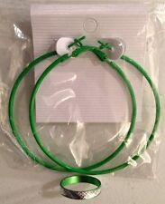 1 Set of Green Circle Basketball Wives Hoop Earrings 56mm w/ FREE matching ring!