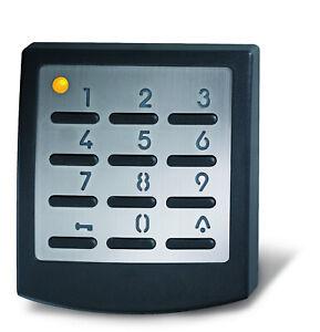Novoferm Funk Codetaster Signal 218 schwarz | Tastatur Edelstahlblende Aufputz