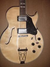 NEW 6 String Hollow Body Electric Guitar Natural Wood with Gig Bag