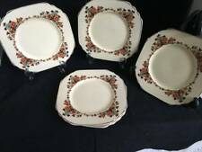 art deco wedgwood and co side plates X 6 cream glaze