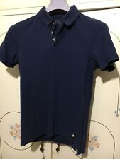 polo FENDI blu 48 M maglia t-shirt polo's blue blu jacket shirt pole pôle pol