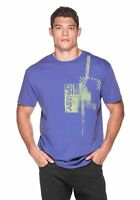 Oakley Men's Racing Tee Blue Enzyme Wash Regular Fit T-Shirt Size Large NWT