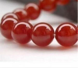 8mm Natural Red Ruby Gemstone Round Carnelian Loose Beads 15''