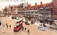 B85665 old staple inn holborn double decker bus car voiture   london uk