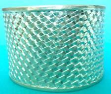 Sterling Woven Design Cuff Bangle, Silver Wide Cuff Bracelet, Wide Cuff Bracelet