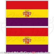 ESPAGNE 2ème Espagnol République Etat Drapeau 100mm Autocollants x2