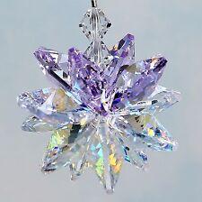 Lt. Amethyst Crown & Aurora Borealis Starburst Suncatcher m/w Swarovski Crystal