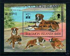 Solomon Is 1994 Year of Dog Jakarta ovpt MS SG791 MNH