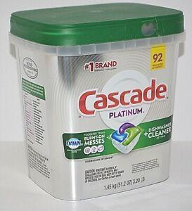 CASCADE PLATINUM DISHWASHER ACTION PODS PACS FRESH SCENT DETERGENT 92 ACTIONPACS