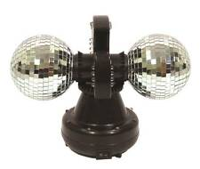 Cheetah Twin Mirror Ball DJ Light Shining Glitter Disco Pub Party Occasion 4inch