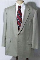 Hickey Freeman Bespoke Men's Silk Wool Houndstooth Sport Coat Jacket Blazer 47L