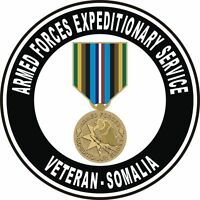 """Somalia Armed Forces Expeditionary Service Medal AFEM Veteran 5.5"""" Sticker Decal"""
