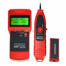 Electronic Network Cable Tester Wire Tracker Length Scan RJ45 Coaxial Telephone