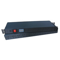16 Way Power Distribution Unit PDU 1RU 1U 19 Inch Rack Mount 2m Cord Electrical