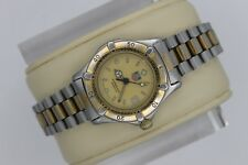 Tag Heuer 2000 Professional Gold 964.008 Watch Womens 2-Tone Silver SS EUC 200M
