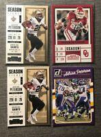 Adrian Peterson football card lot of 4 - Vikings - Redskins - Oklahoma    NM-MT